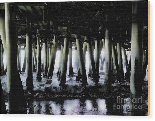 Under The Pier 6 Wood Print