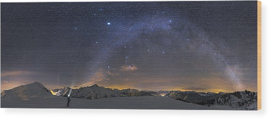 Under The Starbow Wood Print by Dr. Nicholas Roemmelt