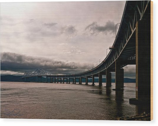 Under The Tappan Zee Wood Print
