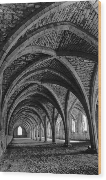 Under The Vaults. Vertical. Wood Print