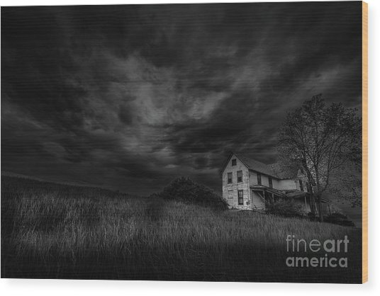 Under Threatening Skies Wood Print