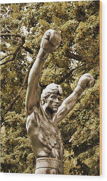 Underdog Triumph Wood Print by JAMART Photography