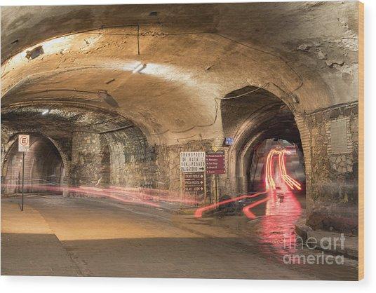 Underground Tunnels In Guanajuato, Mexico Wood Print
