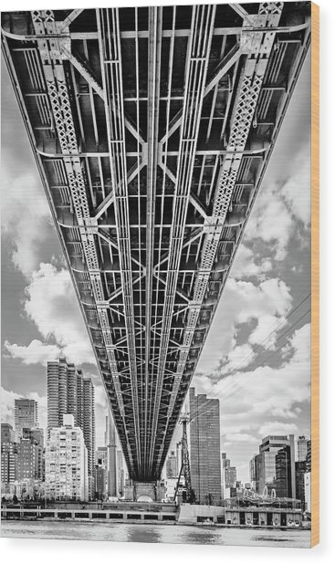 Underneath The Queensboro Bridge Wood Print