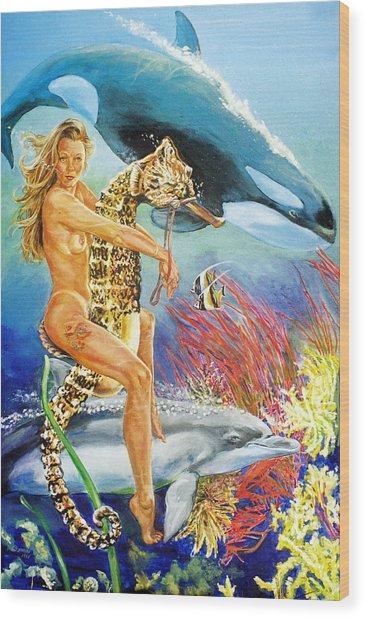 Undersea Fantasy Wood Print