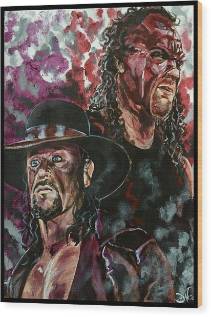 Undertaker And Kane Wood Print