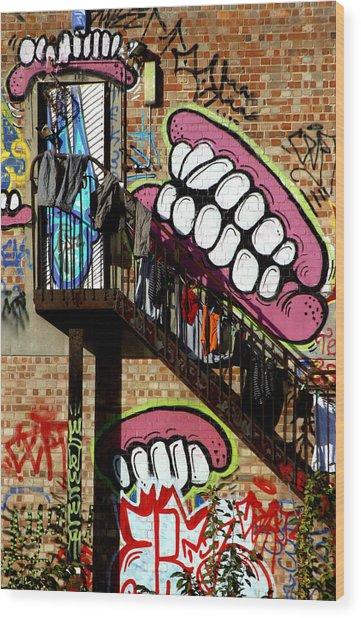Underteeth The Stairs 2 Wood Print by Jez C Self