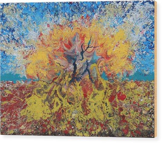 Underwater Explosion Wood Print