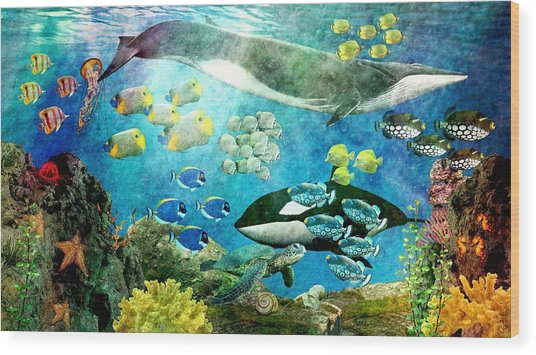Underwater Magic Wood Print