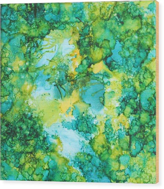 Underwater Map Wood Print