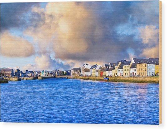 Unforgettable Galway Seaside Wood Print by Mark Tisdale