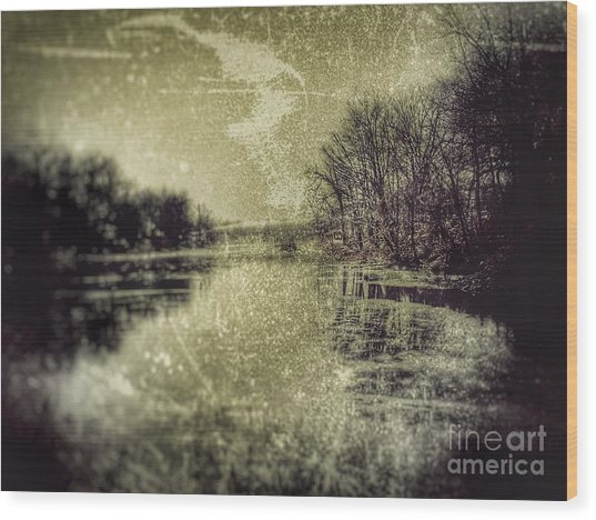 Unfrozen Lake Wood Print