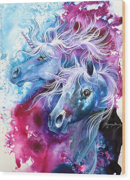 Unicorn Magic Wood Print