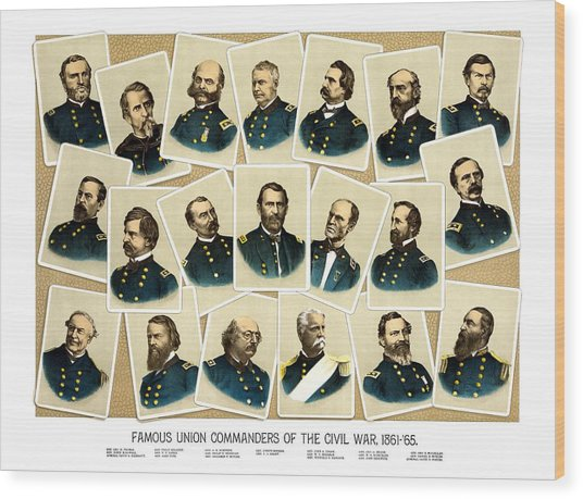 Union Commanders Of The Civil War Wood Print