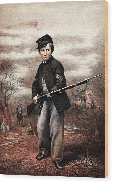 Union Drummer Boy John Clem Wood Print