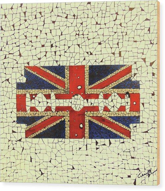 Union Jack 2 Wood Print