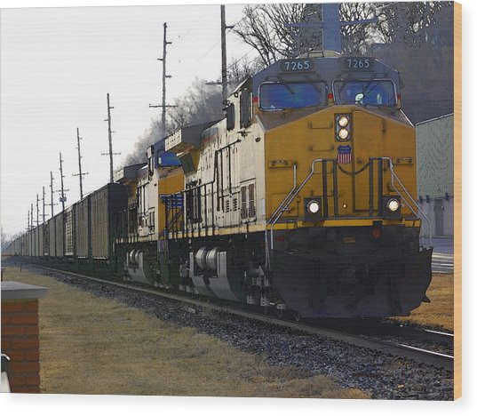 Union Pacific 7265 Wood Print by Jame Hayes