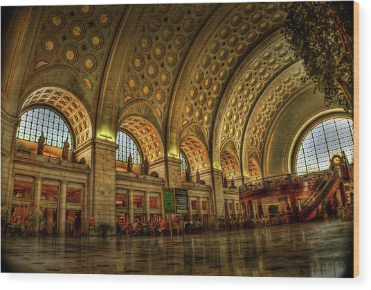 Union Station - Dc Wood Print