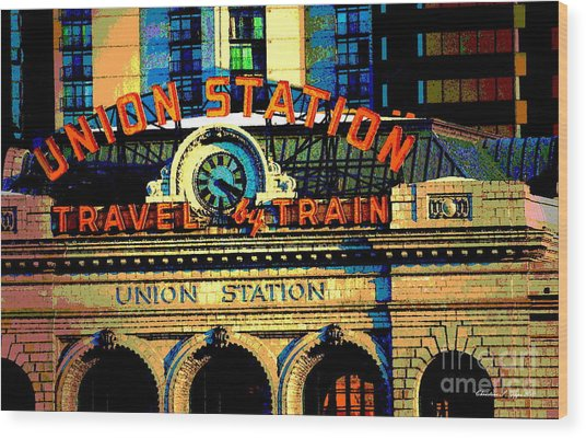 Union Station Wood Print