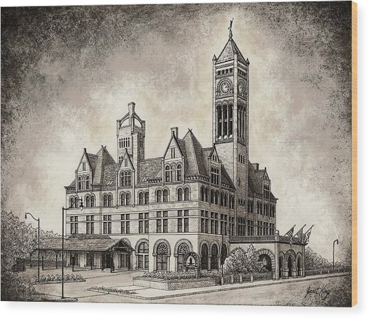 Union Station Mixed Media Wood Print