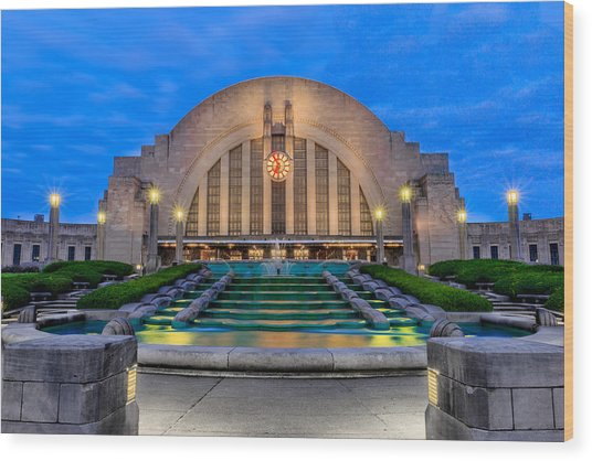 Union Terminal At Sunrise II Wood Print