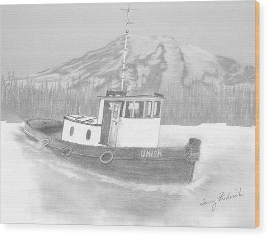 Tugboat Union Wood Print