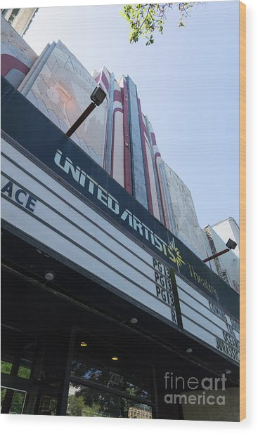 United Artists Berkeley 7 Movie Theater At University Of California Berkeley Dsc6316 Wood Print