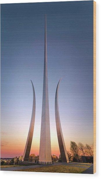 United States Air Force Memorial Wood Print