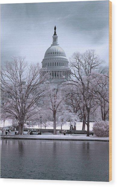 United States Capitol Wood Print