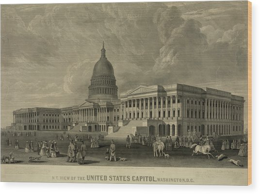 United States Capitol, Washington Wood Print