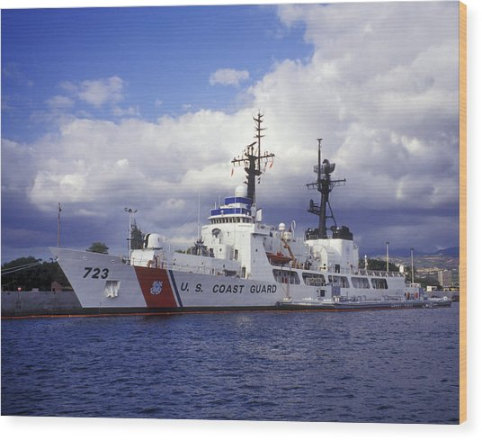 Wood Print featuring the photograph United States Coast Guard Cutter Rush by Michael Wood