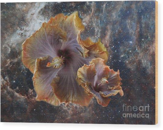 Universe Of Flowers Wood Print