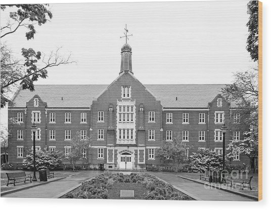 University Of Connecticut Whitney Hall Wood Print by University Icons
