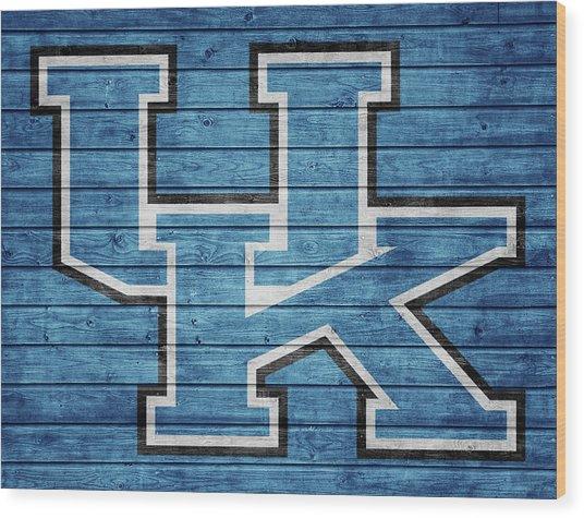 University Of Kentucky Barn Door Wood Print