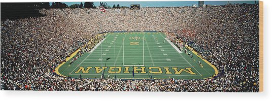 University Of Michigan Stadium, Ann Wood Print
