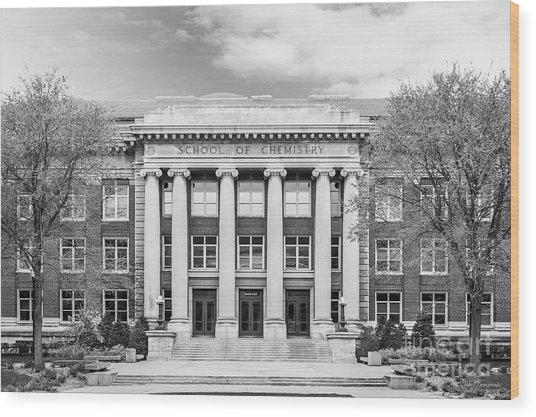 University Of Minnesota Smith Hall Wood Print by University Icons
