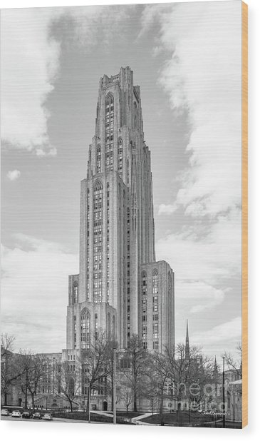 University Of Pittsburgh Cathedral Of Learning Wood Print