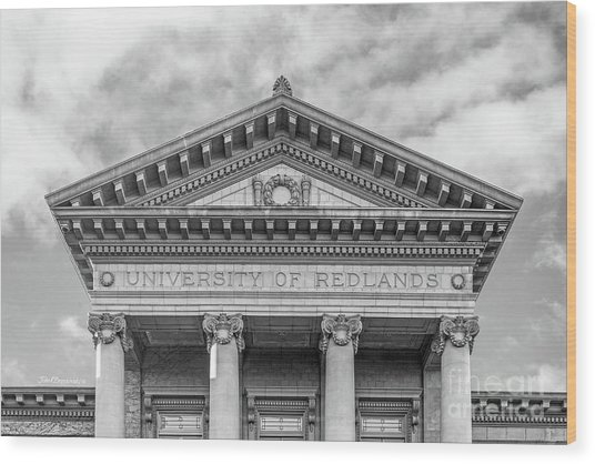 University Of Redlands Administration Building Wood Print