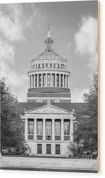 University Of Rochester Rush Rhees Library Wood Print