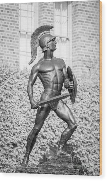 University Of Southern California Tommy Trojan Statue Wood Print