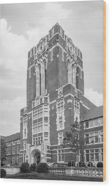 University Of Tennessee Ayres Hall Wood Print