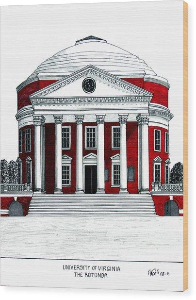 University Of Virginia Wood Print