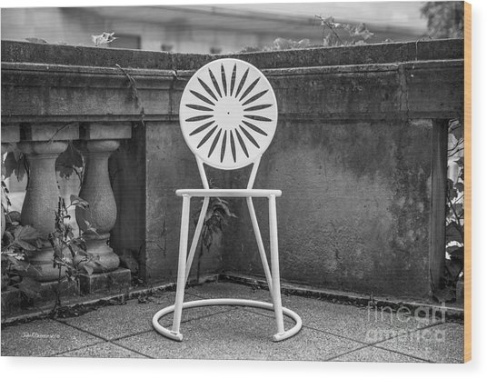 University Of Wisconsin Madison Terrace Chair Wood Print by University Icons