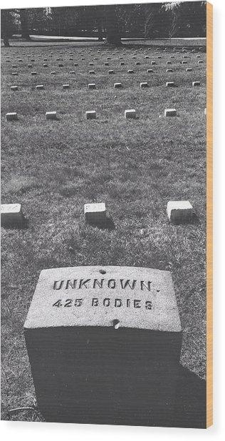 Unknown Bodies Wood Print