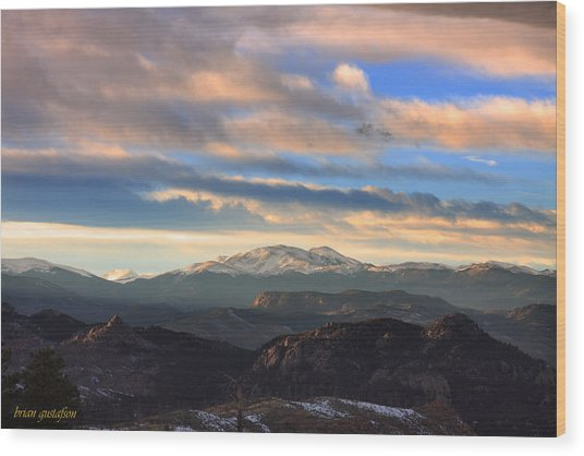 The Unmatched Beauty Of The Colorado Rockies Wood Print