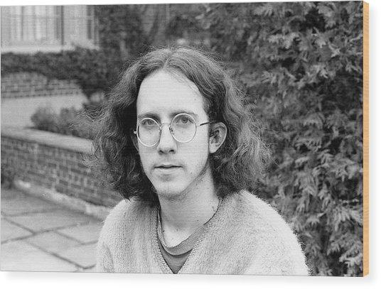 Unshaven Photographer, 1972 Wood Print