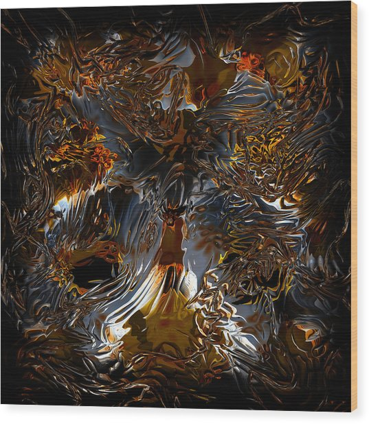 Wood Print featuring the digital art Unsong by Vadim Epstein