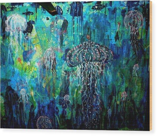 Ocean Deep Wood Print