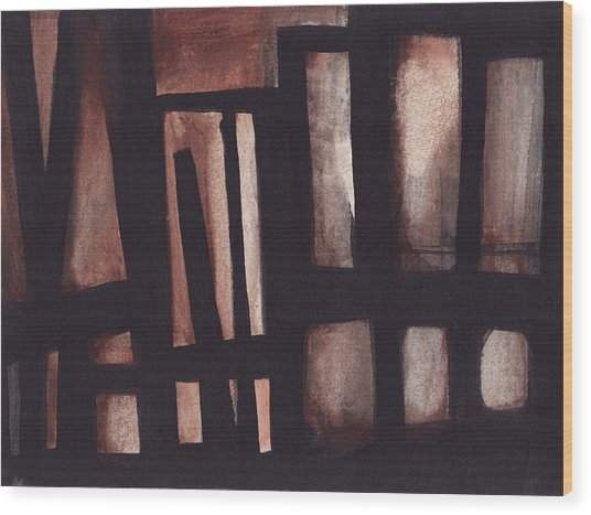 Untitled Industrial Building Wood Print
