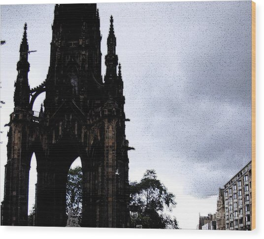 Wood Print featuring the photograph The Scott Monument by Janelle Dey